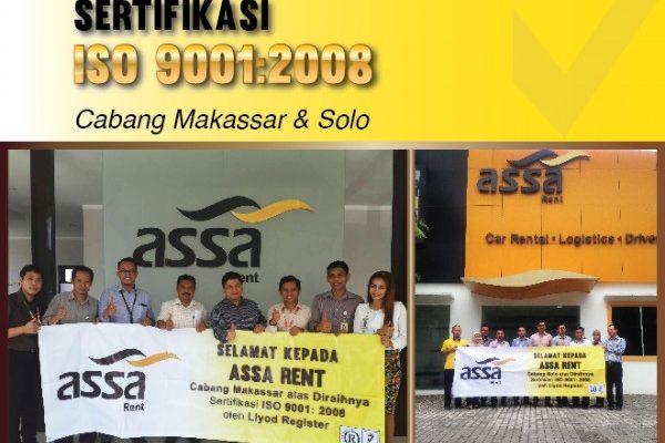 Perusahaan Sewa Mobil ASSA Rent Raih Sertifikasi ISO