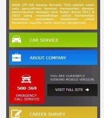 Wajah Baru Mobile Site ASSA Rent