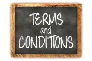 term and condition yang diberikan